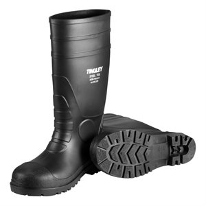 "Tingley 15"" Black Steel Toe Rubber Boots"
