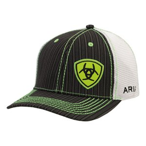 ARIAT LOGO LIME GREEN STRIPE CAP