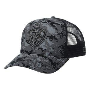 ARIAT LOGO GRY / BLK DIGI CAMO CAP