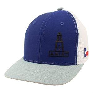 ARIAT RYL / GRY DERRICK TEXAS FLAG CAP