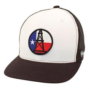 ARIAT WHT / BLKL DERRICK TEXAS FLAG CAP