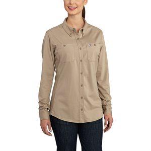 Carhartt FR Ladies 6.75 oz Force L / S Hybrid Shirt