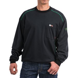 Cinch 7 oz FR Cotton Black L / S T-Shirt