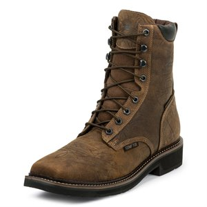 """Justin Driller 8"""" Lace-Up WP CT Work Boot"""