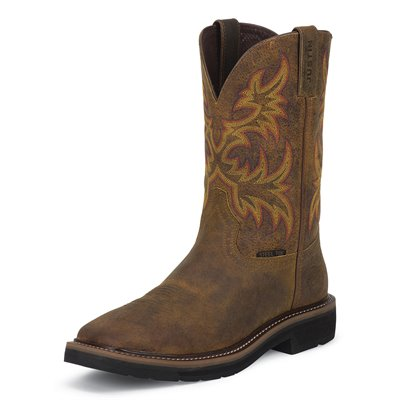 Justin Cowhide Steel Toe Boots