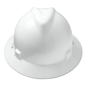 MSA V-Gard Full Brim Hard Hat w / Fas-Trac Suspension