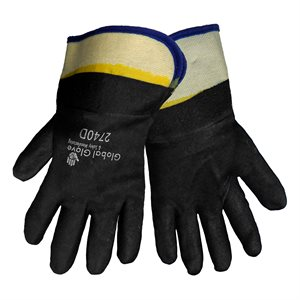 "Global Glove 10"" PVC Sanded Finish Gloves"