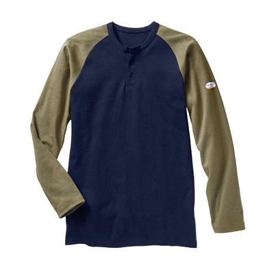 Rasco FR 7.1 oz Cotton Two Tone L / S Henley Shirt