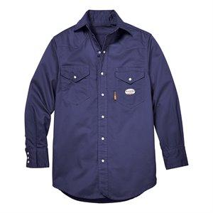 Rasco FR 7.5 oz Navy Work Shirt