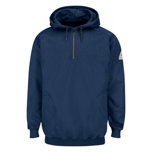 Bulwark FR 12.5 oz Pullover Hooded Sweatshirt with 1 / 4 Zip