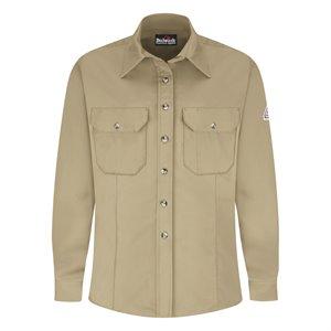 Bulwark FR Ladies 7 oz 88 / 12 L / S Uniform Shirt