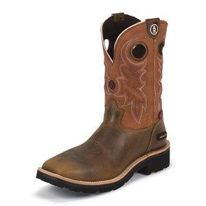 Tony Lama Square Toe Slip On Boot